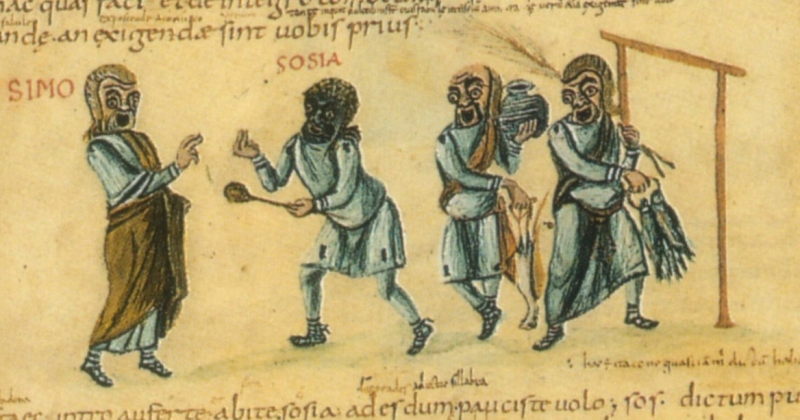Illustrated manuscript of Terence's comedies