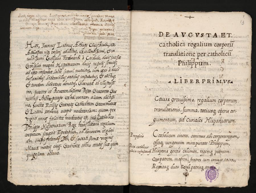 Manuscript by Juan Latino