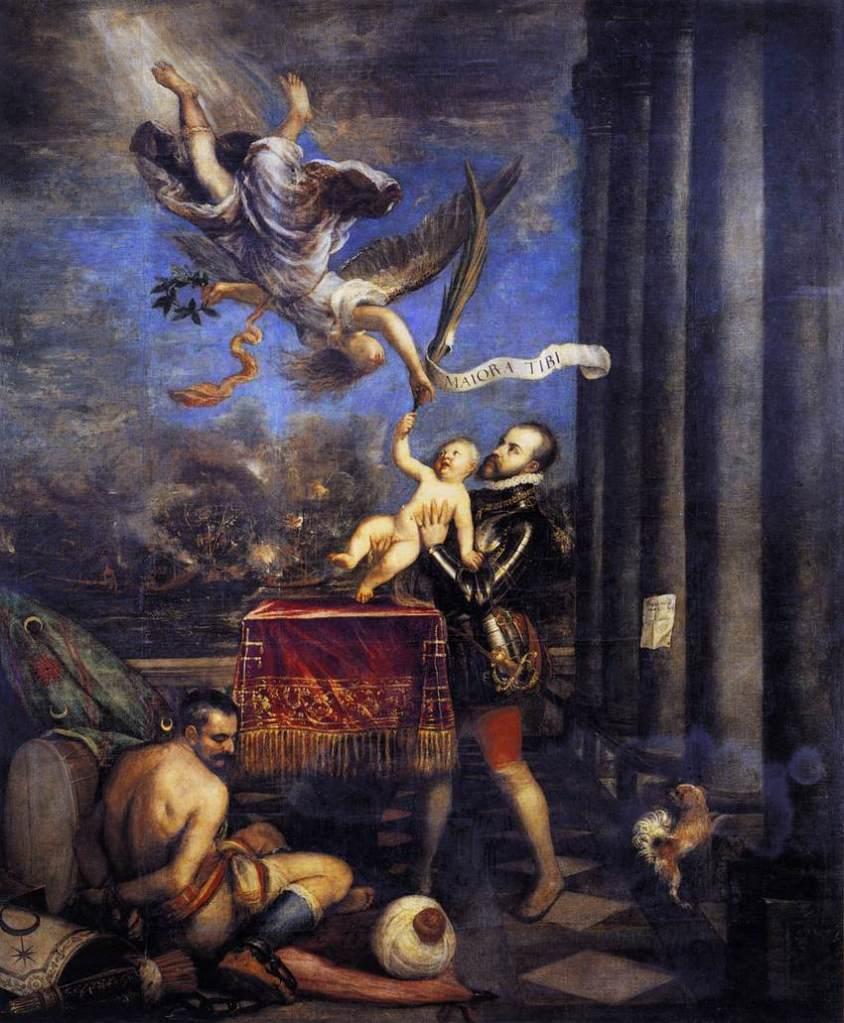 Titian, Philip II offering Don Fernando to Heaven, 1572-75, Prado Museum, Madrid.